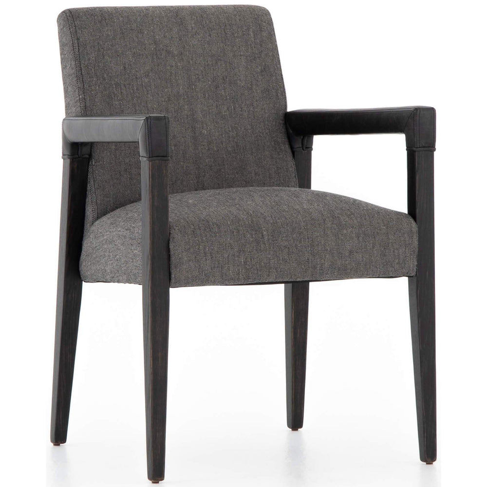 Reuben Dining Chair, Ives Black/Black Legs - Furniture - Dining - High Fashion Home