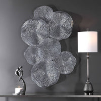 Ripley Wall Art, Pewter - Accessories - High Fashion Home