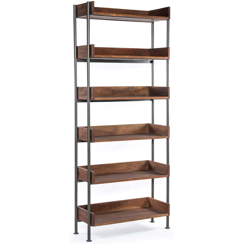 River Bookshelf, Toasted Acacia - Furniture - Storage - High Fashion Home