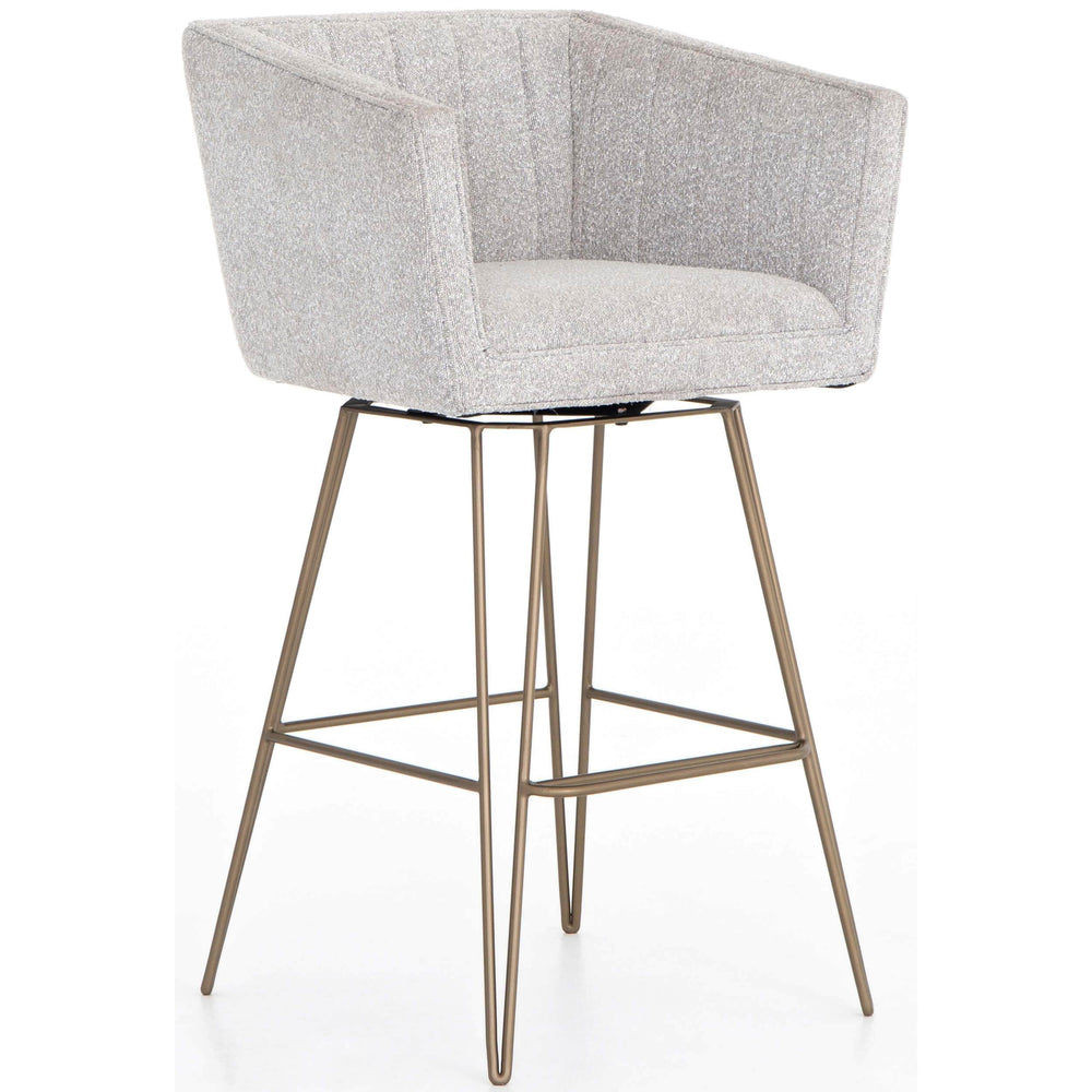 Rooney Swivel Bar Stool, Elder Sable - Furniture - Dining - High Fashion Home