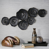 Rose Wall Decor, Black - Accessories - High Fashion Home