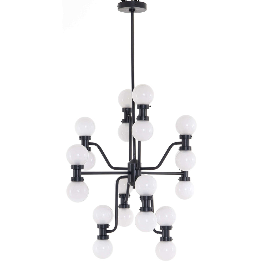 Rylan Chandelier, Antique Iron - Lighting - High Fashion Home
