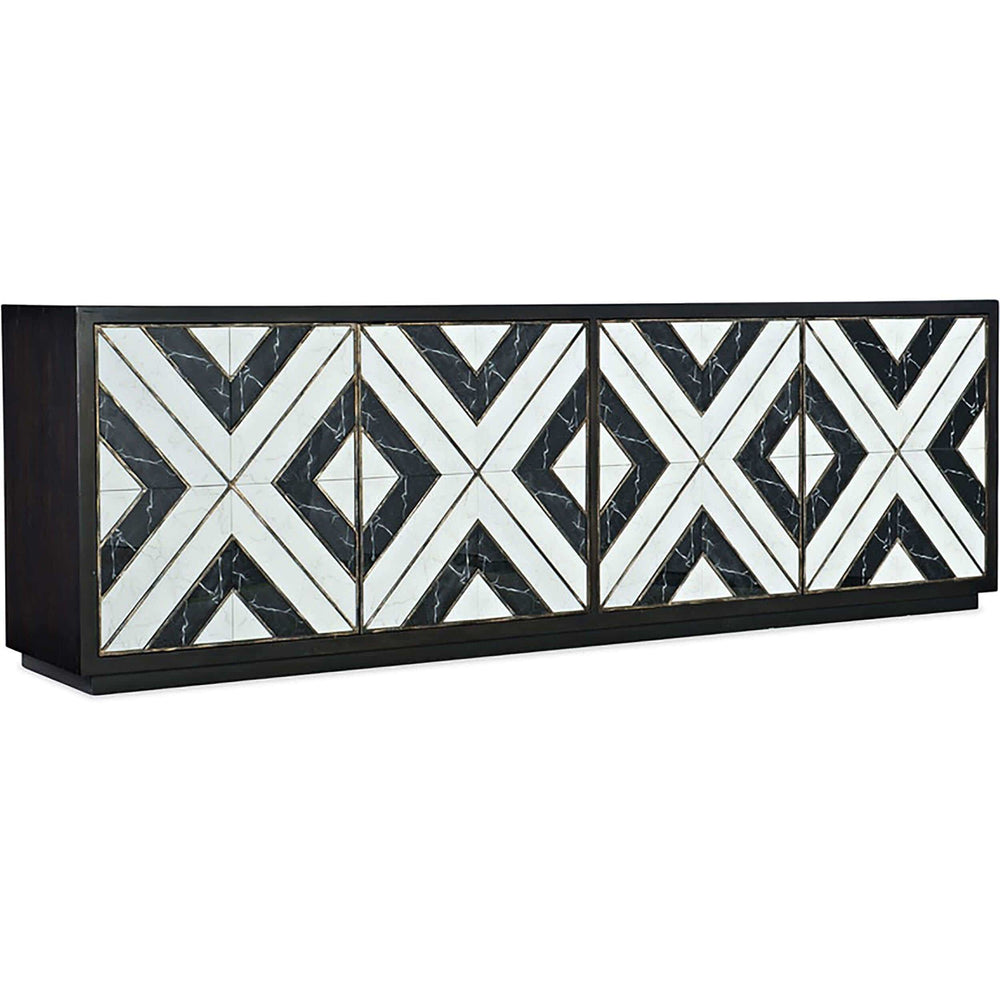 Sanctuary Grand Noir Et Blanc Entertainment Console - Furniture - Storage - High Fashion Home