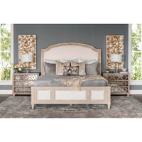 Santa Barbara Upholstered Sleigh Bed - Modern Furniture - Beds - High Fashion Home