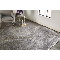 Feizy Rug Sarrant 3963F, Smoke - Rugs1 - High Fashion Home