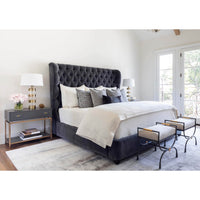 Simone Bed, Viceroy Fog - Modern Furniture - Beds - High Fashion Home