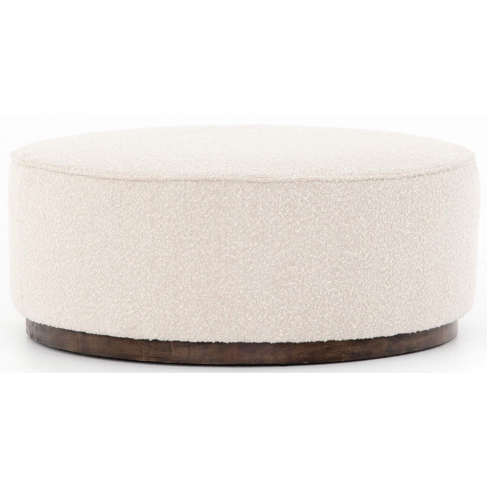 Sinclair Large Round Ottoman, Knoll Natural - Furniture - Chairs - High Fashion Home