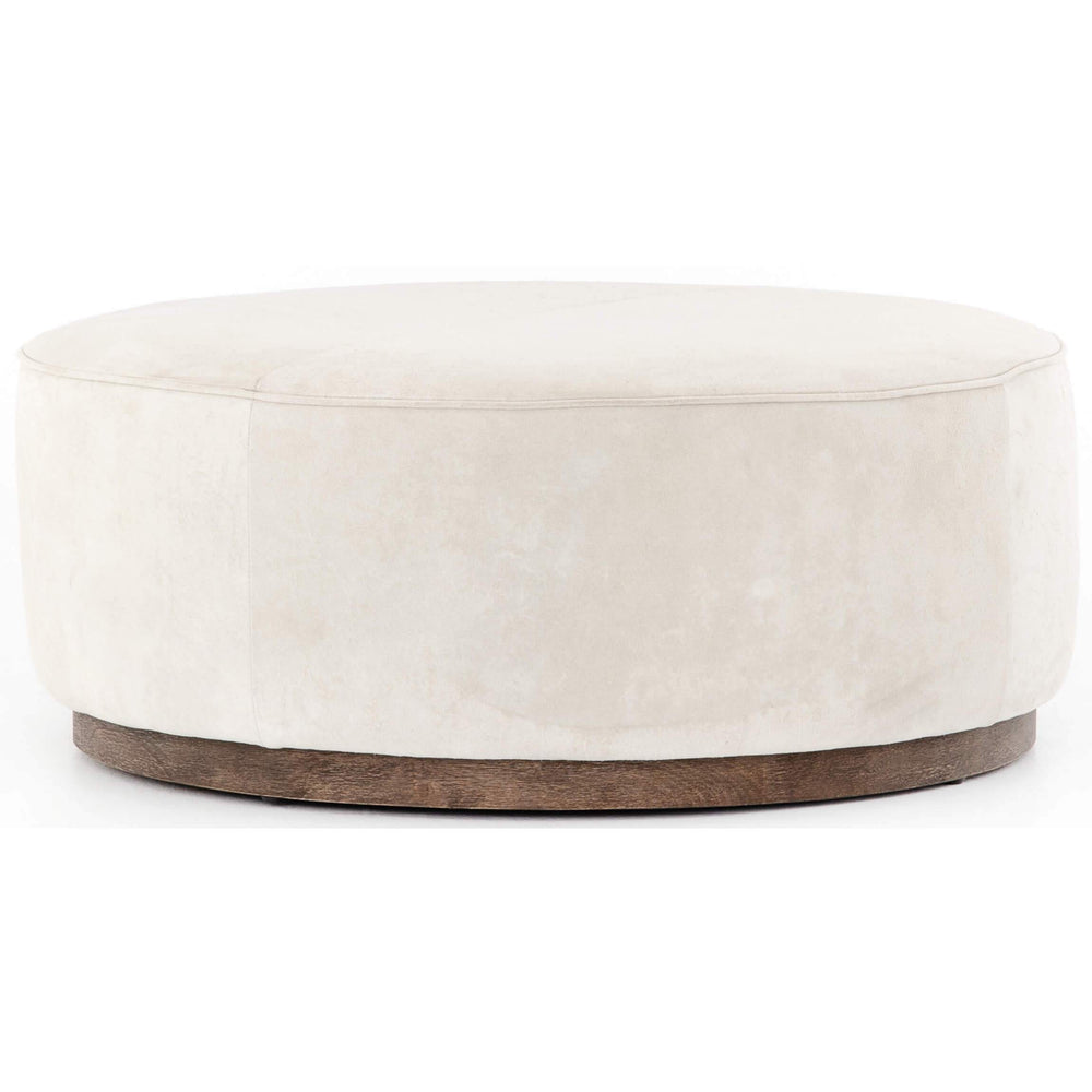 Sinclair Large Round Ottoman, Whistler Oyster - Furniture - Chairs - High Fashion Home
