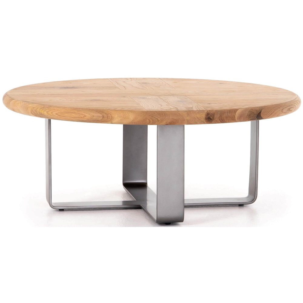 Skate Round Coffee Table, Natural - Modern Furniture - Coffee Tables - High Fashion Home
