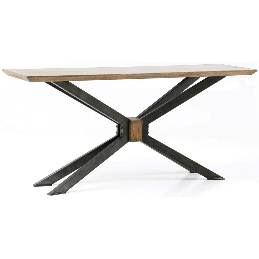 Spider Console Table, Bright Brass Clad - Furniture - Accent Tables - High Fashion Home