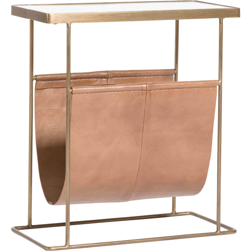 Stanton Accent Table, Tanned Umber - Furniture - Accent Tables - High Fashion Home