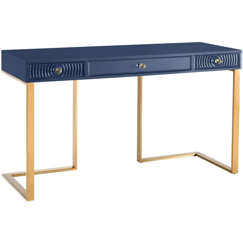 Janie Desk, Blue - Furniture - Accent Tables - High Fashion Home
