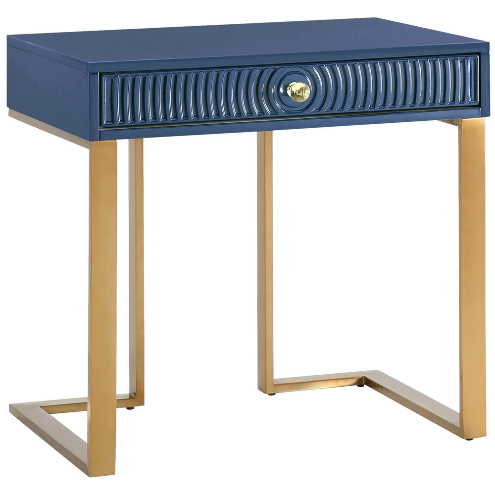 Janie Side Table, Blue - Furniture - Accent Tables - High Fashion Home