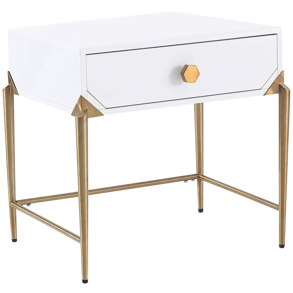 Bajo Side Table, White - Furniture - Accent Tables - High Fashion Home