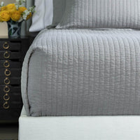 Tessa Quilted Coverlet, Grey-Accessories-High Fashion Home