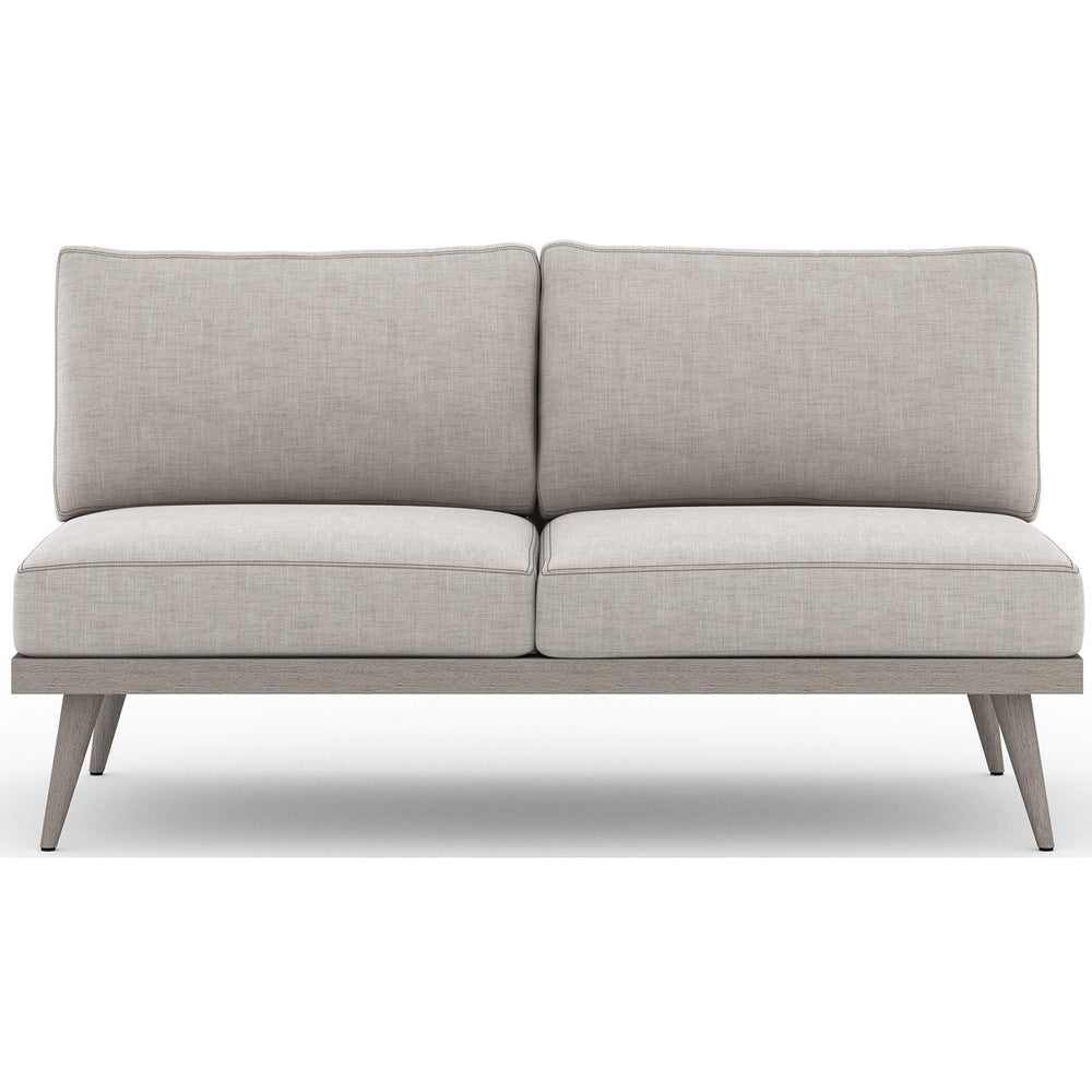 "Tilly 60"" Outdoor Sofa, Stone Grey - Furniture - Sofas - High Fashion Home"