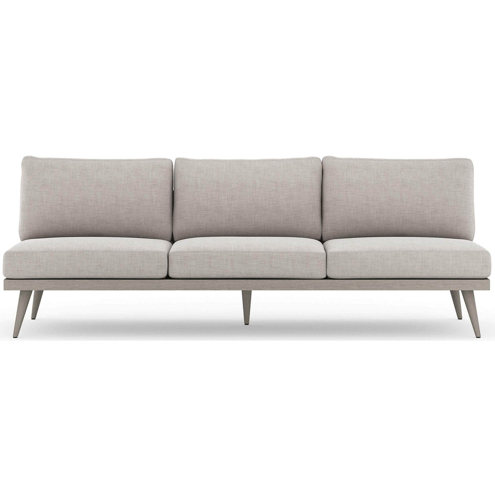 "Tilly 90"" Outdoor Sofa, Stone Grey - Furniture - Sofas - High Fashion Home"