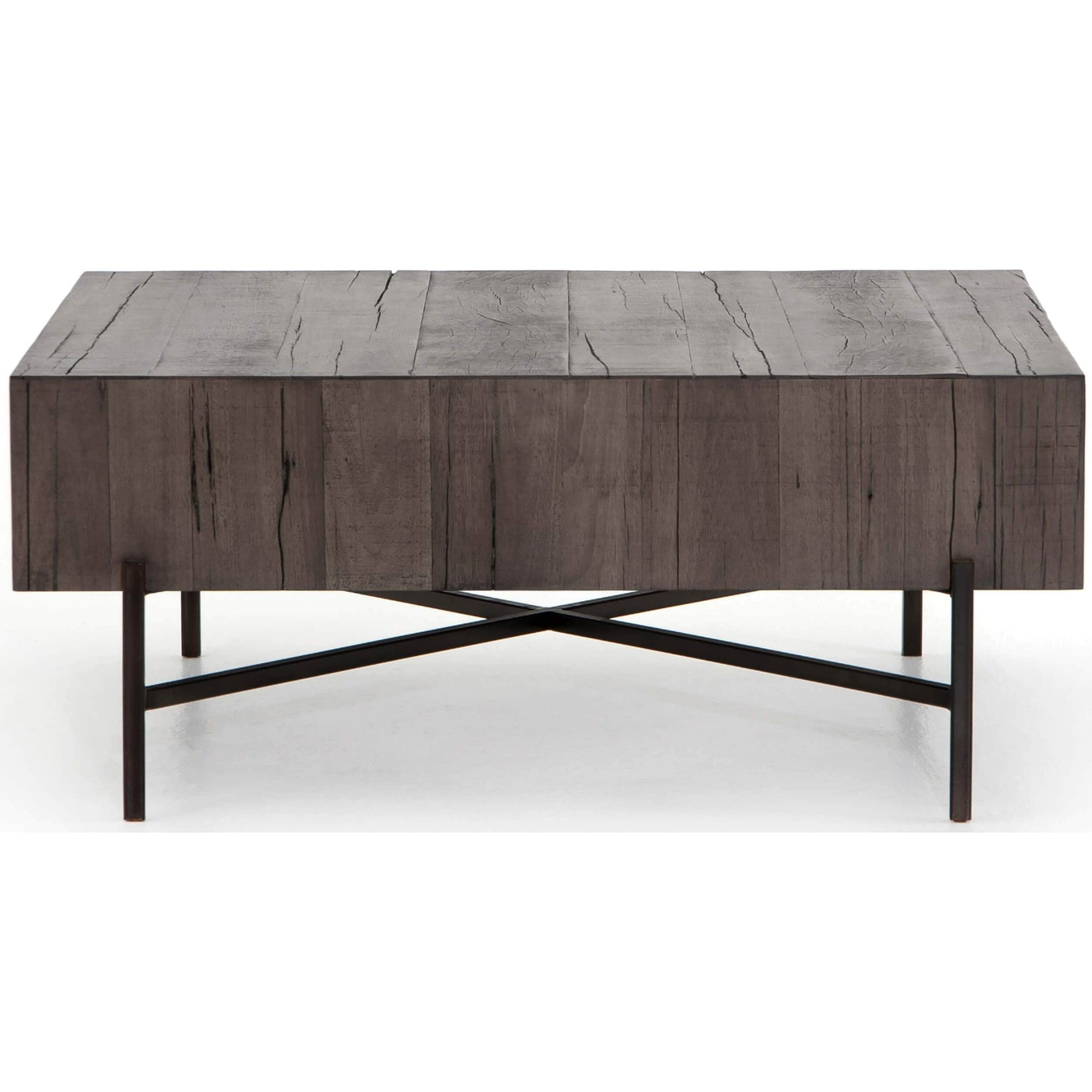 Tinsley Square Coffee Table Distressed Grey High Fashion Home