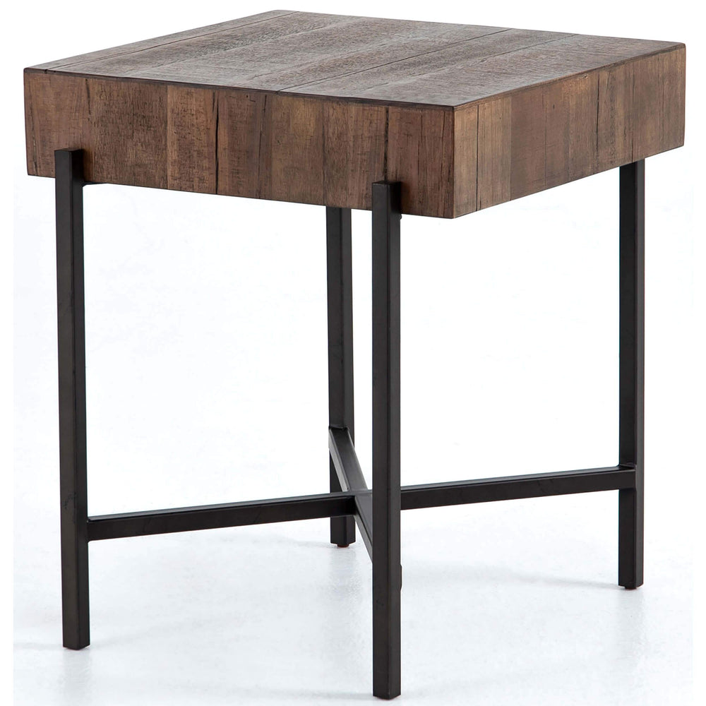 Tinsley Square End Table, Natural Brown - Furniture - Accent Tables - High Fashion Home