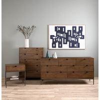 Trey 7 Drawer Dresser, Auburn Poplar - Furniture - Bedroom - High Fashion Home