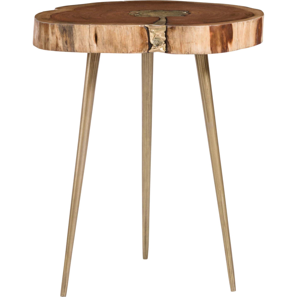 Vail Molten Side Table, Brass - Furniture - Accent Tables - High Fashion Home