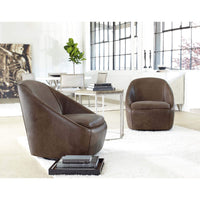 Webster Leather Swivel Chair, 324-220 - Furniture - Chairs - High Fashion Home