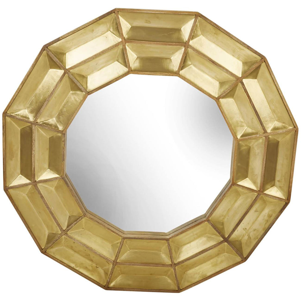Wood & Brass Mirror, Gold - Accessories - High Fashion Home
