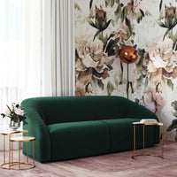 Yara Pleated Sofa, Forest Green - Furniture - Sofas - High Fashion Home