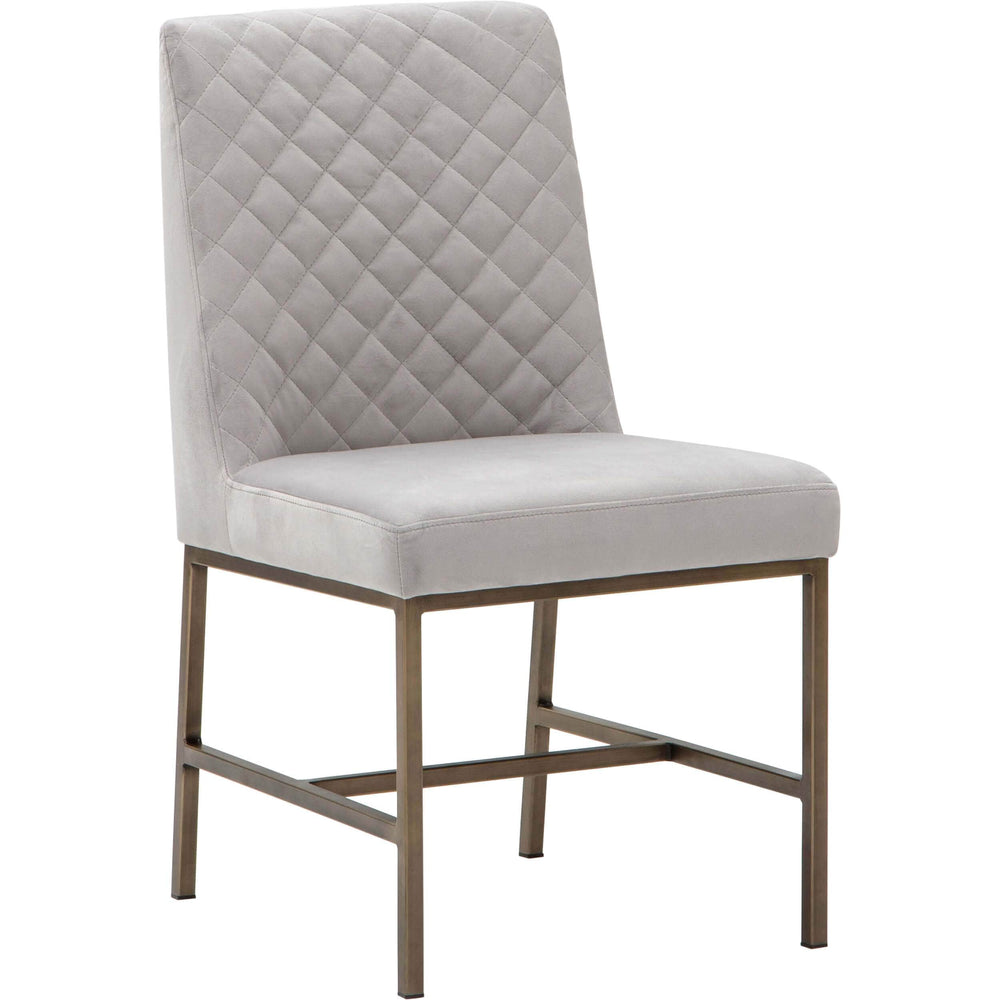 Zachary Dining Chair, Alisa Light Grey - Furniture - Dining - High Fashion Home