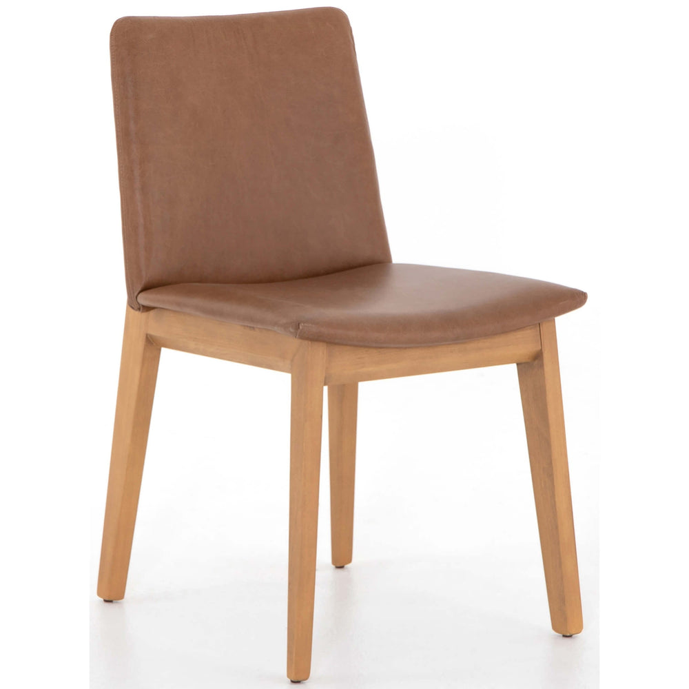 Zane Leather Dining Chair, Chaps Sand - Furniture - Dining - High Fashion Home