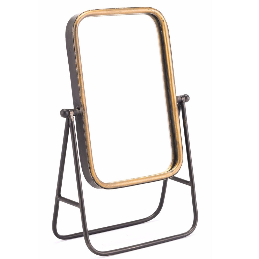 Mirror with Stand, Antique Gold - Accessories - Mirrors