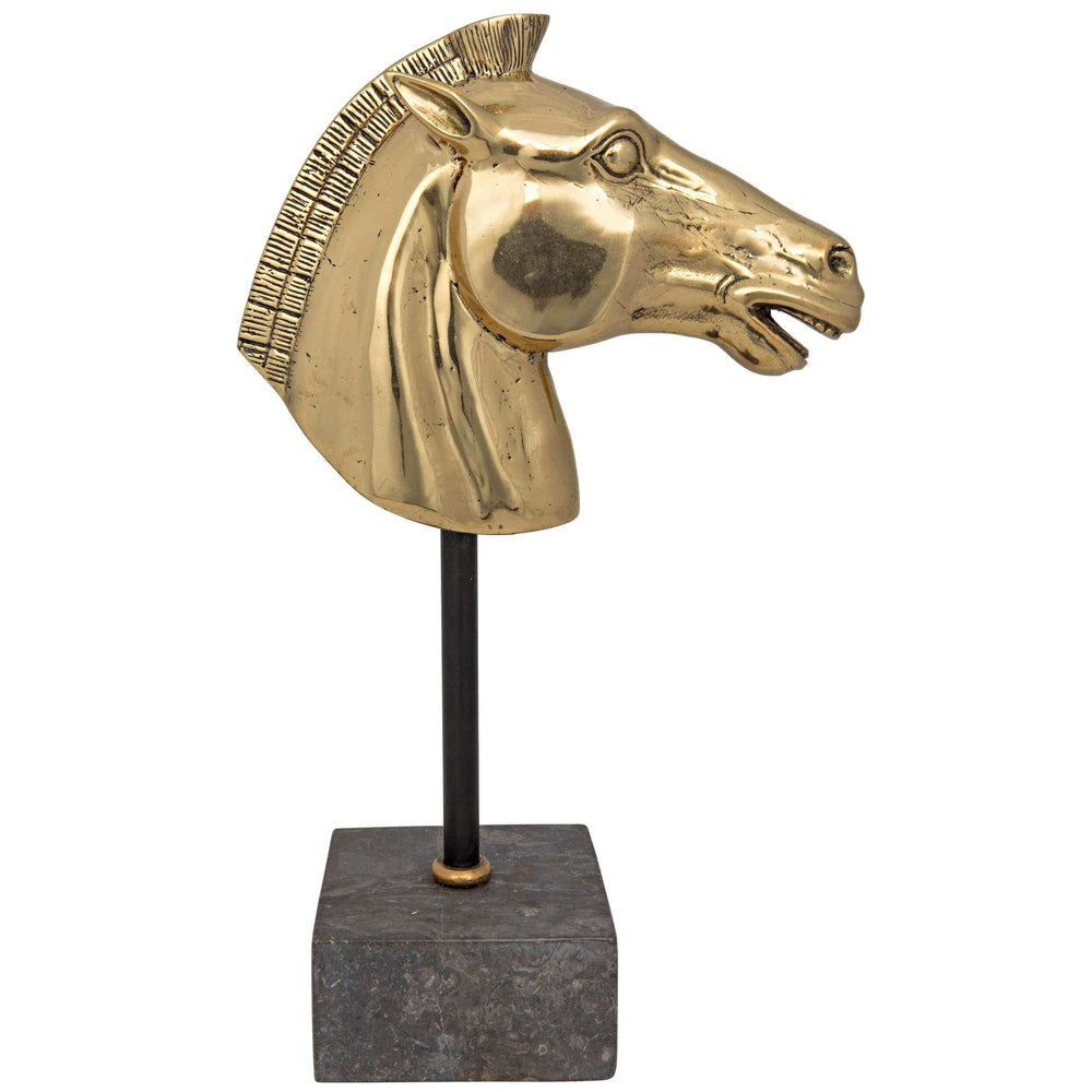 Horse on Stand, Brass - Accessories - High Fashion Home
