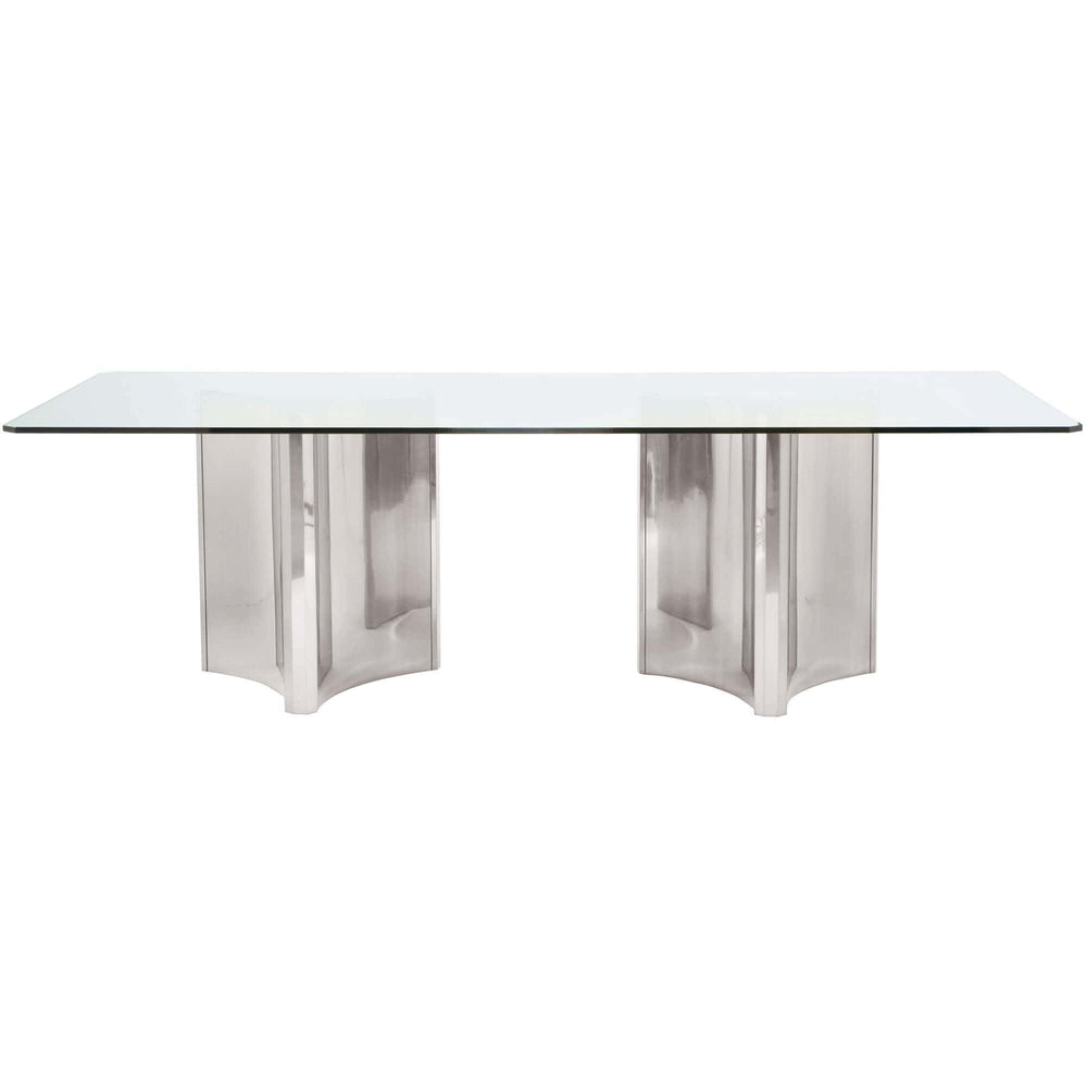 Abbott Rectangular Dining Table, Polished Stainless - Modern Furniture - Dining Table - High Fashion Home