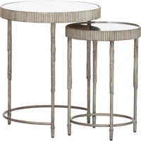 Accent Nesting Tables, Silver (Set of 2) - Furniture - Accent Tables - High Fashion Home