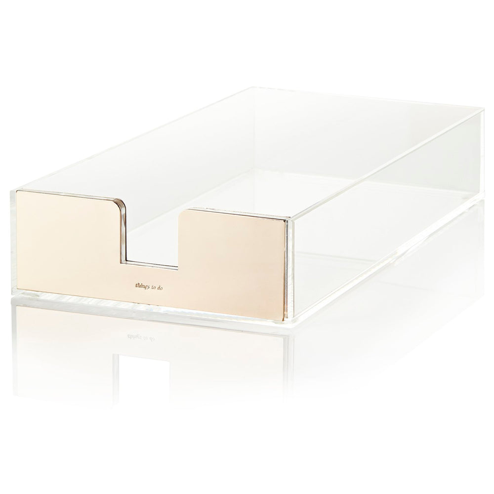 Kate Spade Strike Gold Desk Tray - Gifts - Gifts Under $50