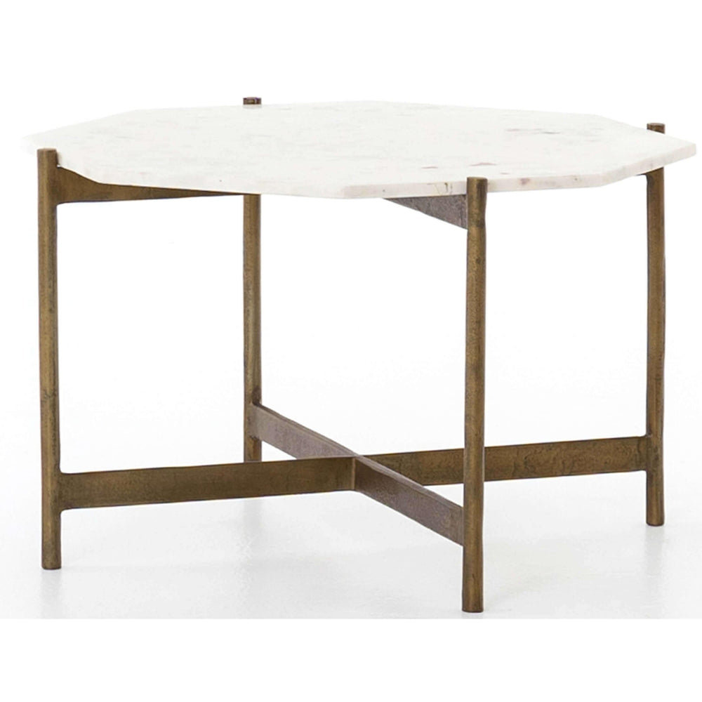 Adair Bunching Table, Raw Brass - Furniture - Accent Tables - High Fashion Home