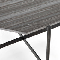 Adair Bunching Table, Ebony Marble - Furniture - Accent Tables - High Fashion Home