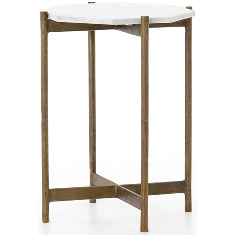 Adair Side Table, Raw Brass - Furniture - Accent Tables - End Tables