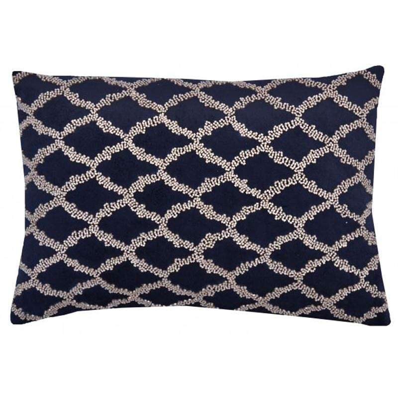 Cloud 9 Adana Lumbar Pillow, Black - Accessories - High Fashion Home