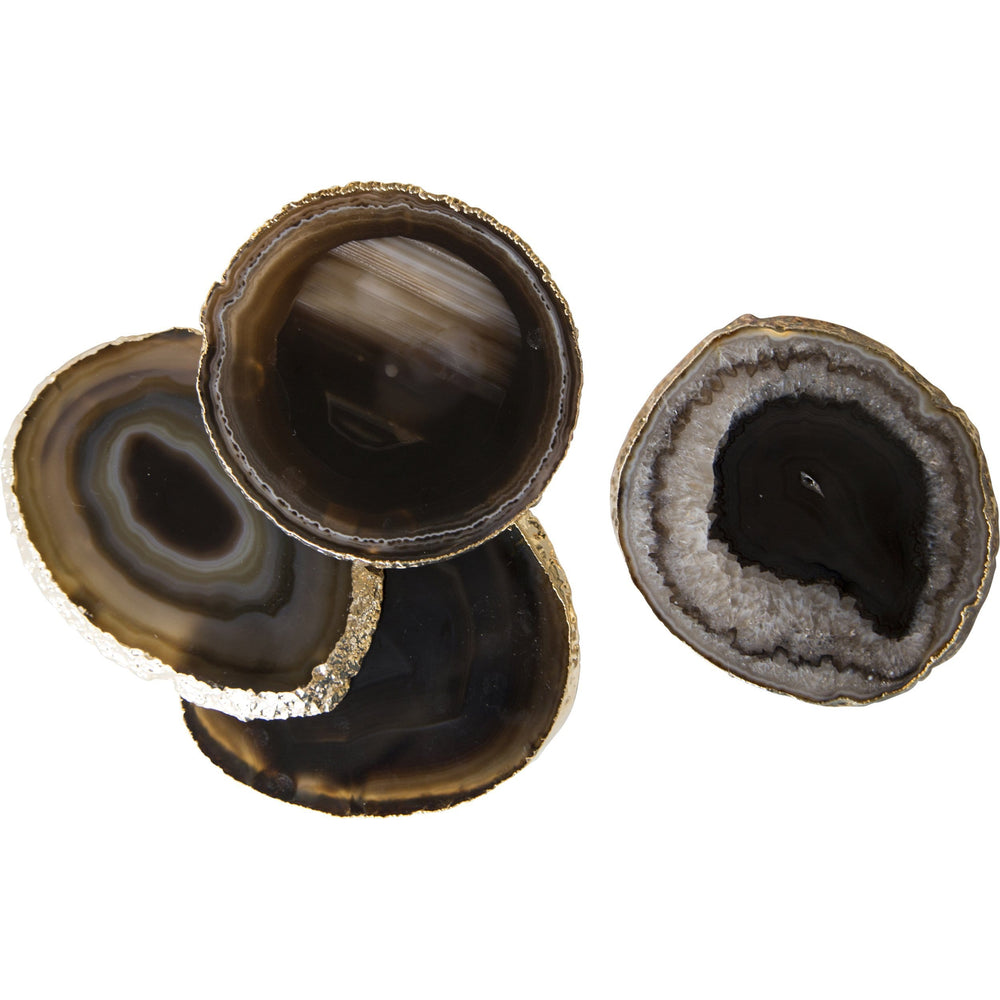 Agate Coasters, Set of 4 Black - Room Ideas - Dining Room