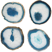 Agate Coasters, Set of 4 Teal - Accessories - High Fashion Home