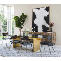 Aiden Glass Top Dining Table - Modern Furniture - Dining Table - High Fashion Home