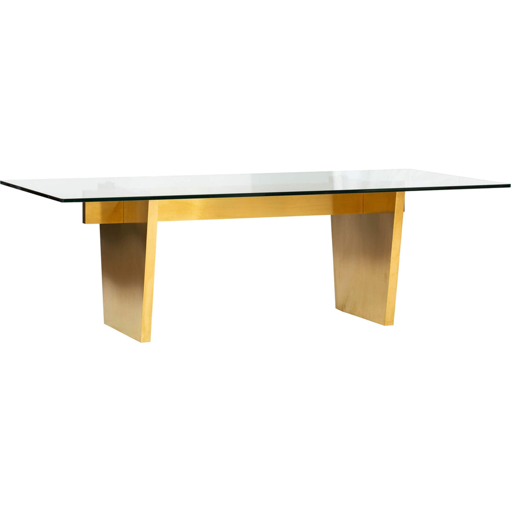 Aiden Glass Top Dining Table - Furniture - Dining - Dining Tables