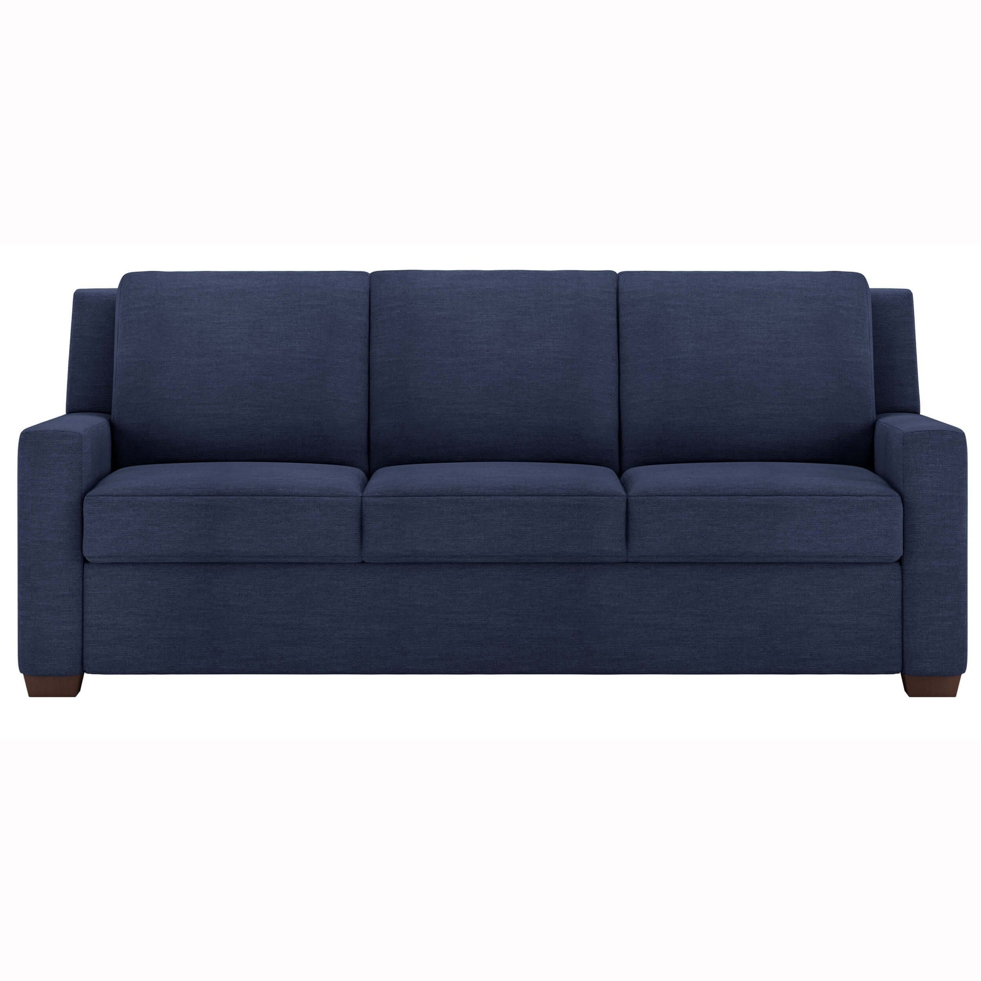 - American Leather Lyons Queen Sleeper Sofa, Nuance Indigo – High