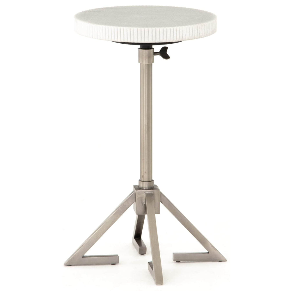 Alana Adjustable Accent Table, Antique Pewter