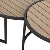 Alda Outdoor Nesing Table, Washed Brown