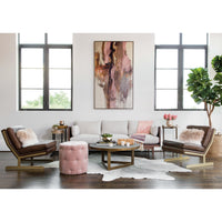 Darcy Ottoman, Lindon Blush  - Furniture - Chairs - Ottomans
