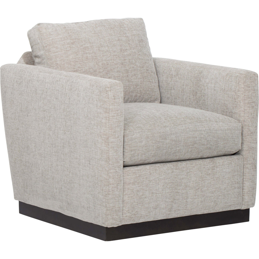 Allie Swivel Chair, Pebble - Furniture - Chairs - Fabric