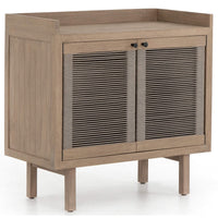 Alma Outdoor Small Cabinet, Washed Brown