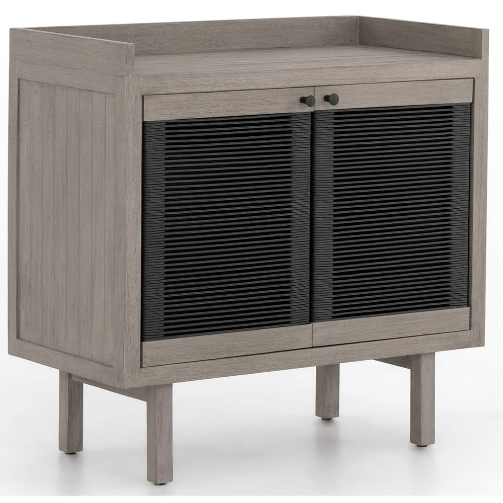 Alma Outdoor Small Cabinet, Weathered Grey